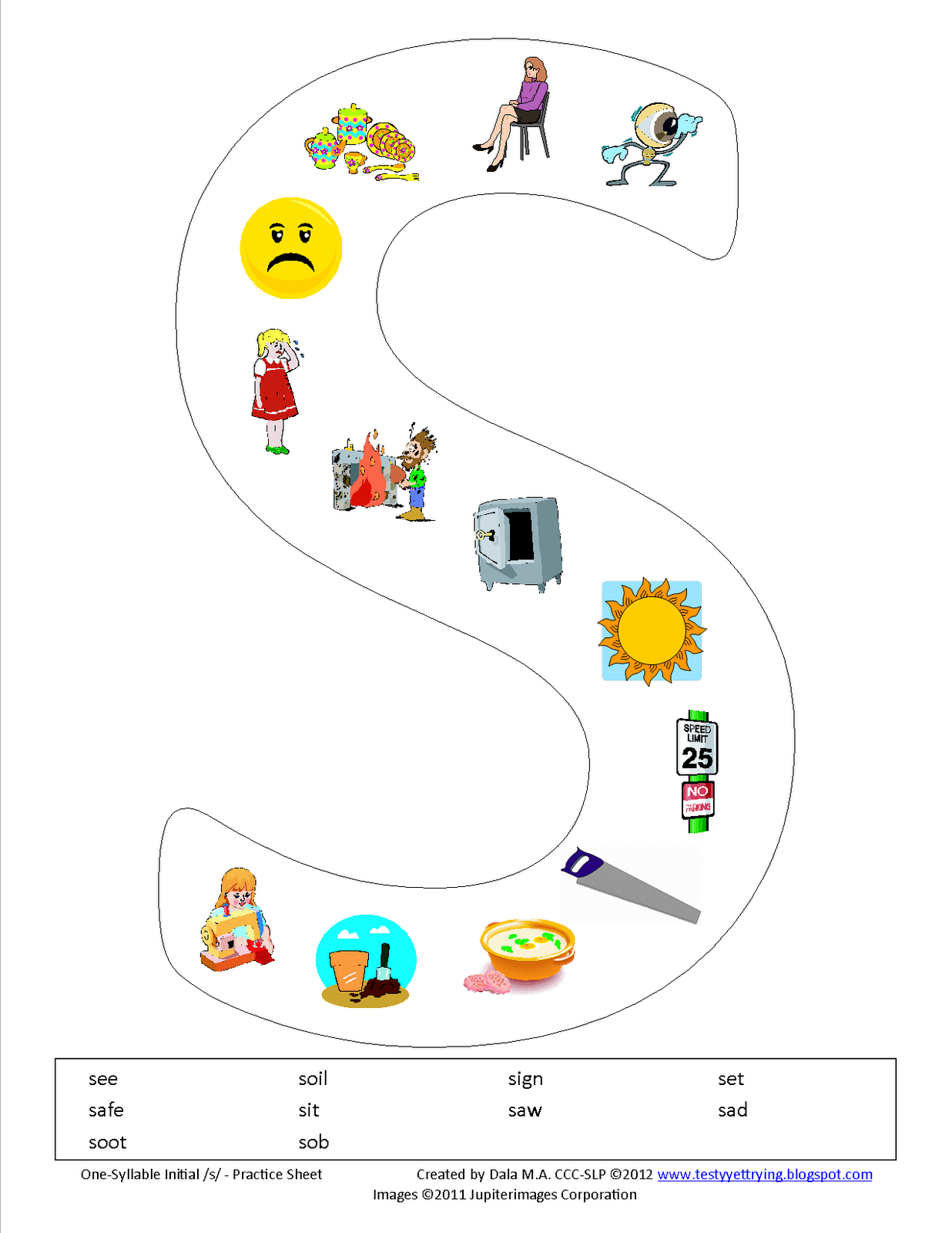 Initial S Printable Worksheet Use This As An Idea To Make Other Initial S Sheets And Cards