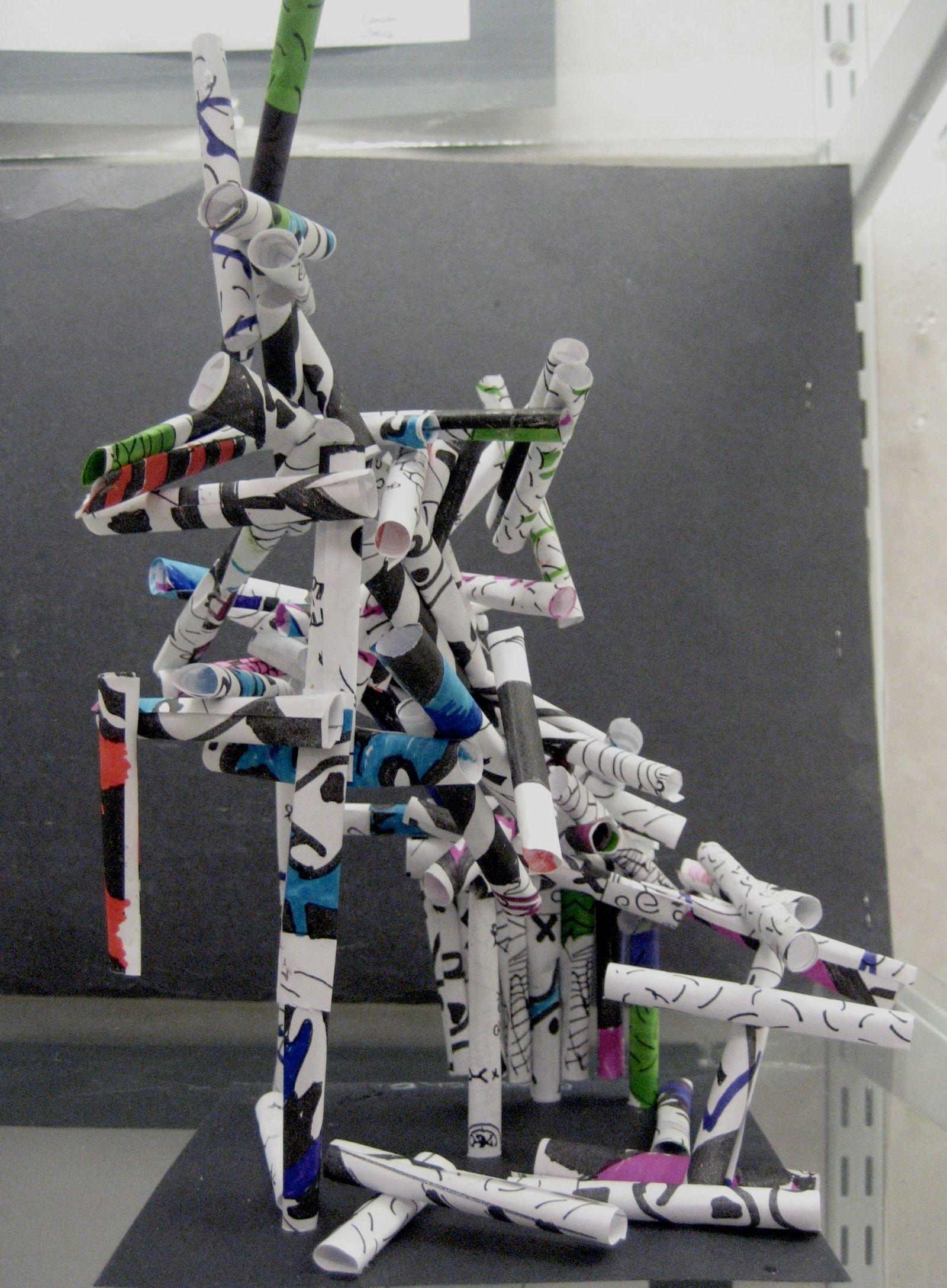 Jean Dubuffet 3d Paper Sculpture