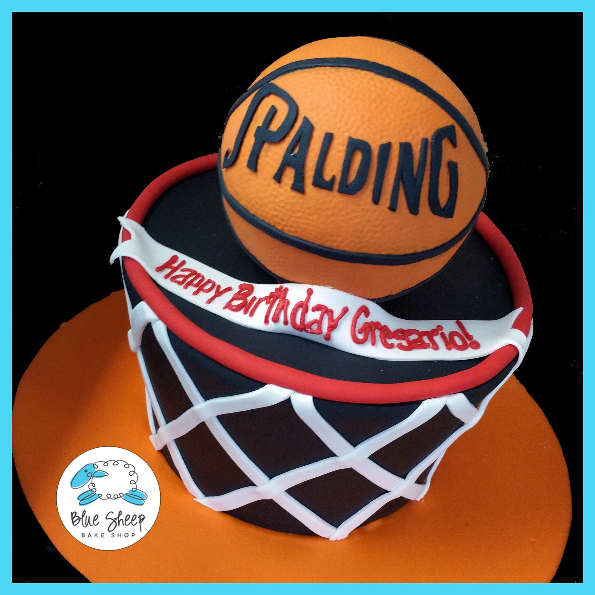 Basketball Net Birthday Cake Blue Sheep Bake Shop