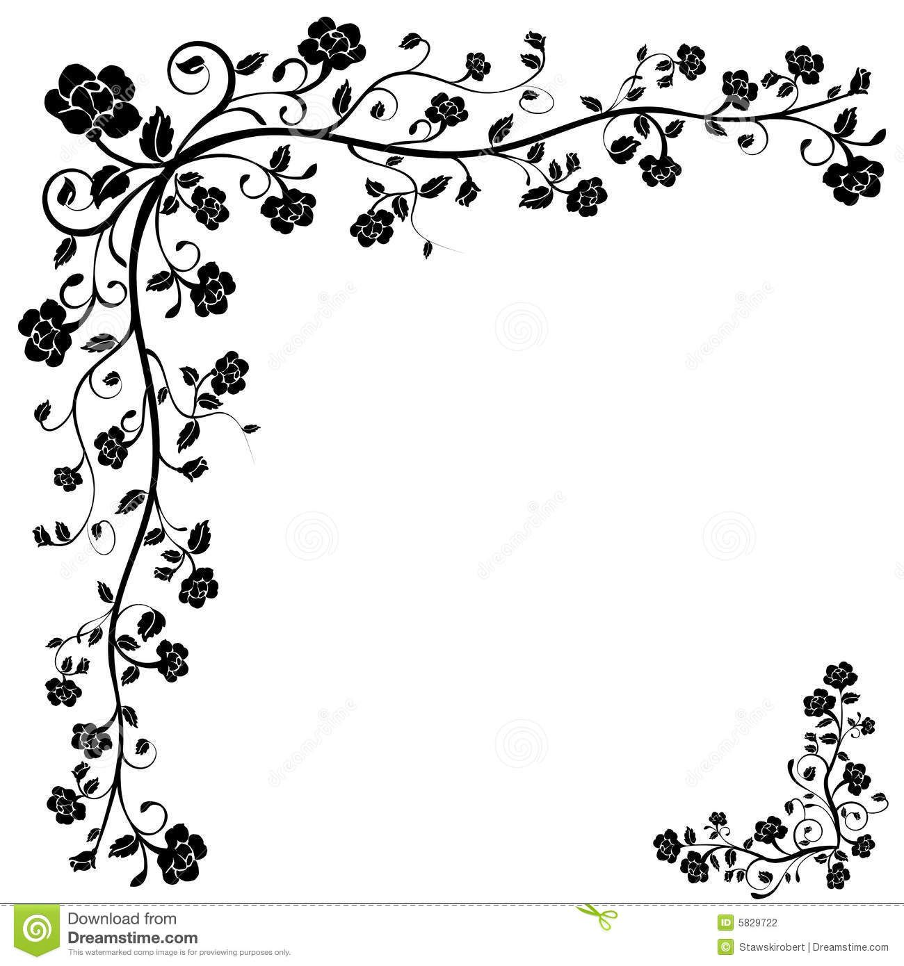 flower corner vector Google Search wood burning ideas