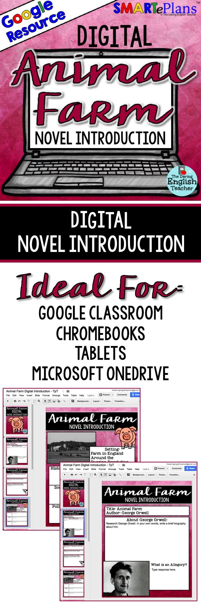 Digital Animal Farm Novel Introduction for Google Drive