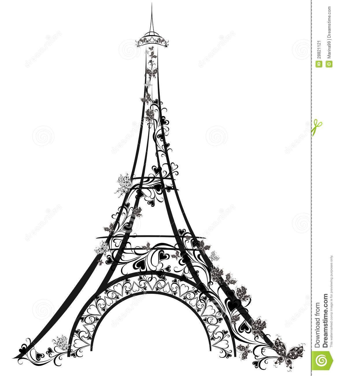 Eiffel Tower Paris France Stock Image