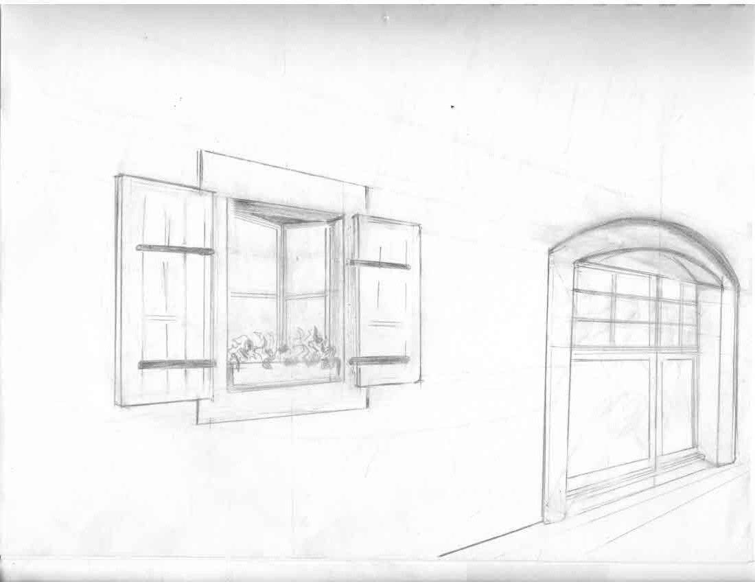 Open Door Drawing Perspective Design Ideas Door
