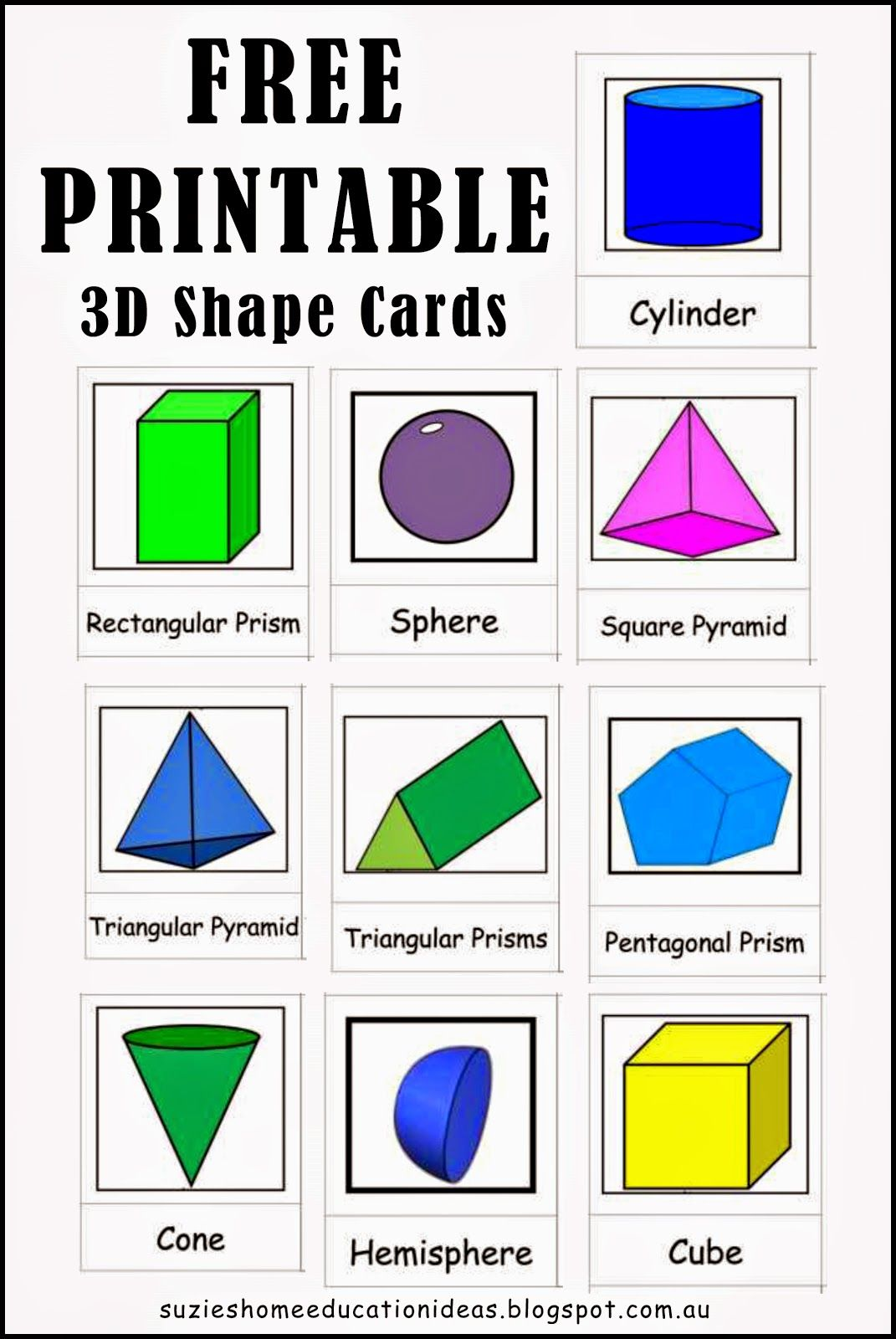 Best 25 3d Shapes Names Ideas