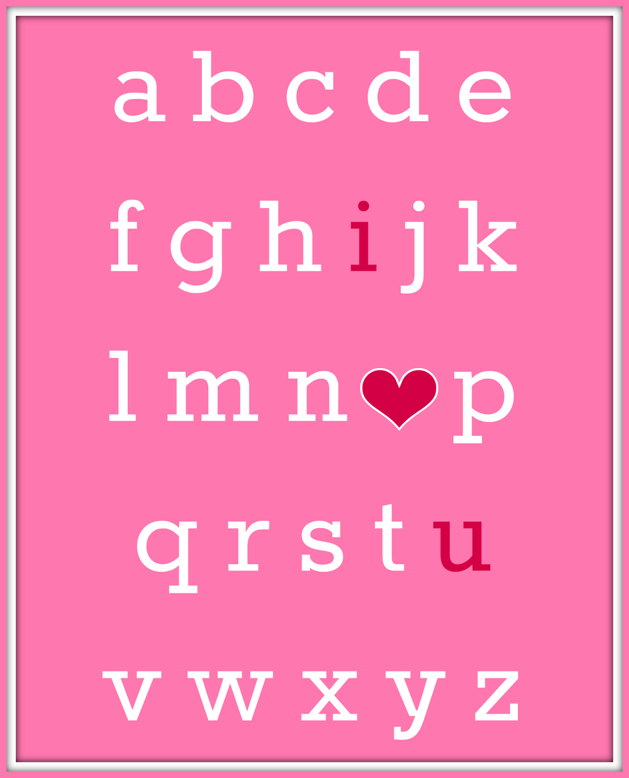 Valentine S Day Abc I Love You Free Printable