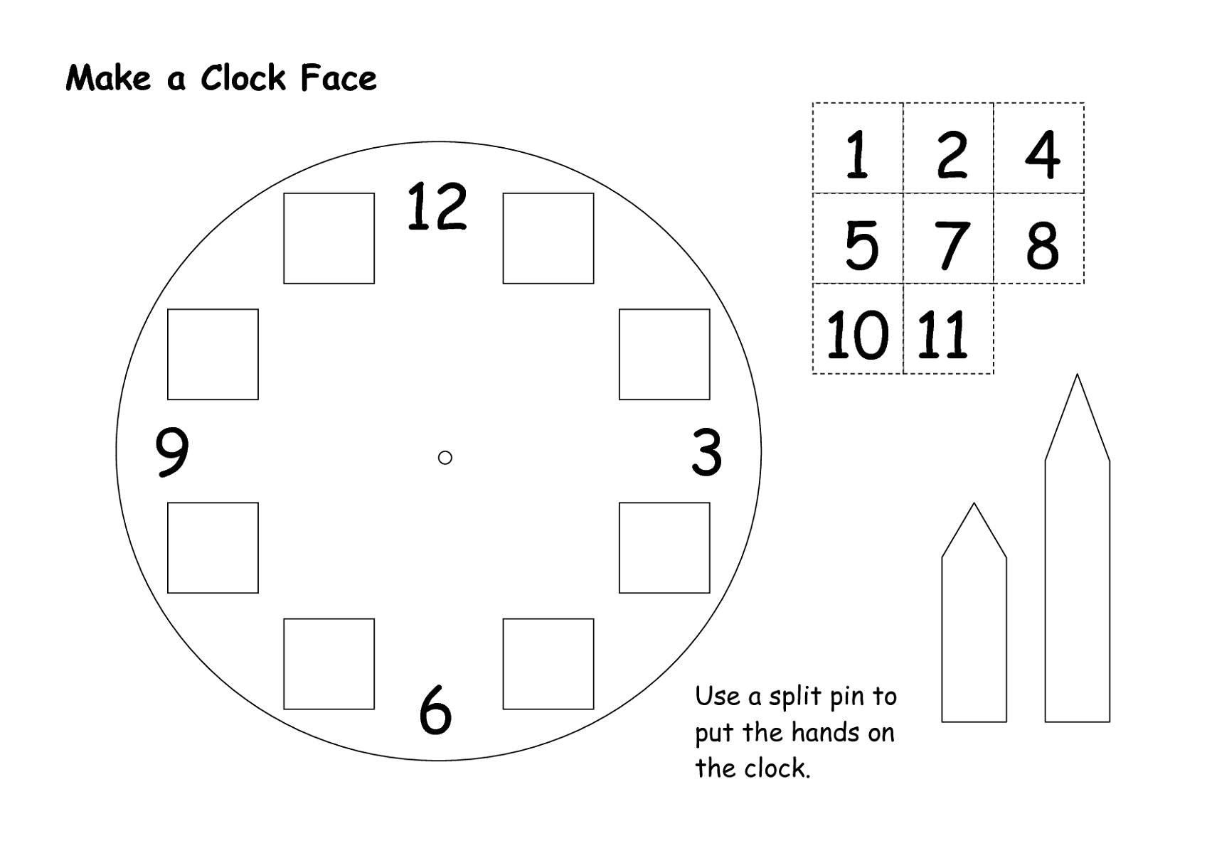 Clock Face Templates For Easy Learning