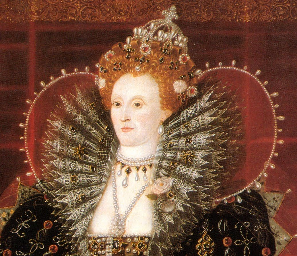 Detail of Queen Elizabeth I by Nicholas Hilliard, 1599