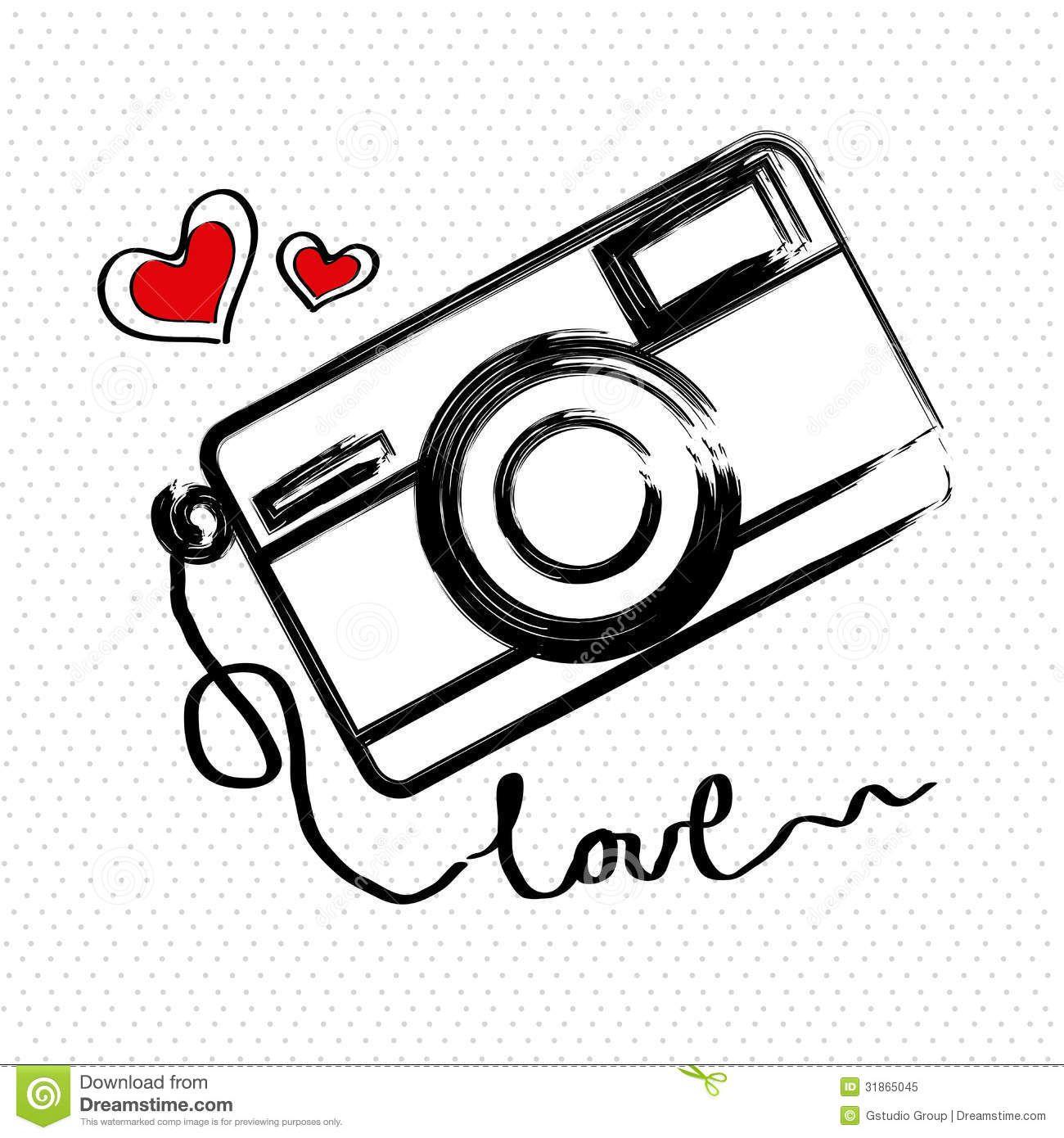 Desenho De Camera Fotografica Vetor