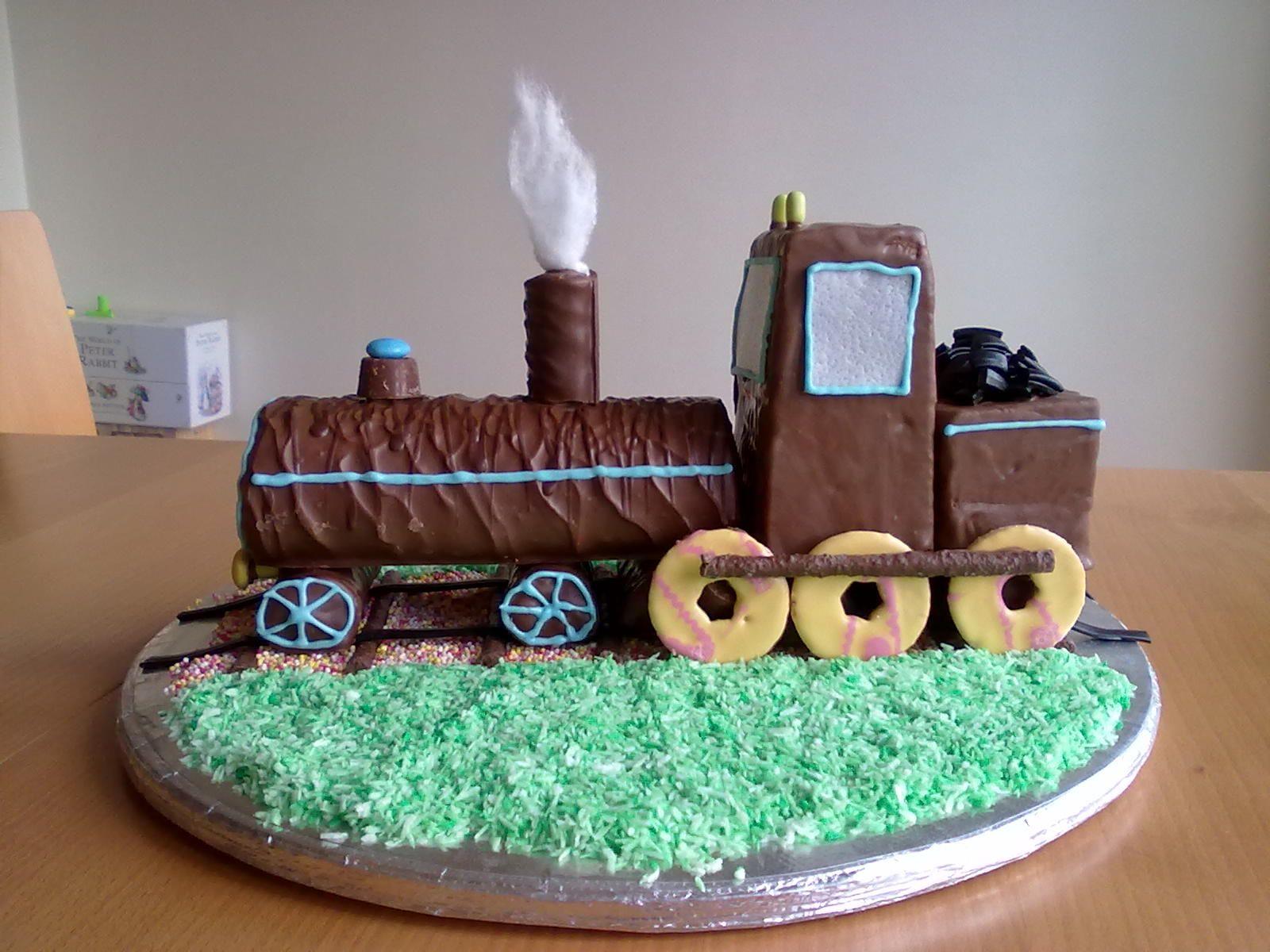 No Bake Train Birthday Cake