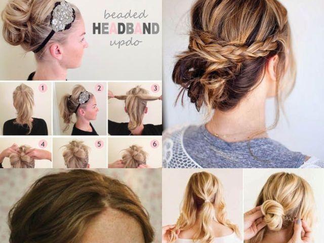 10 updo hairstyle tutorials for medium-length hair | updo, medium