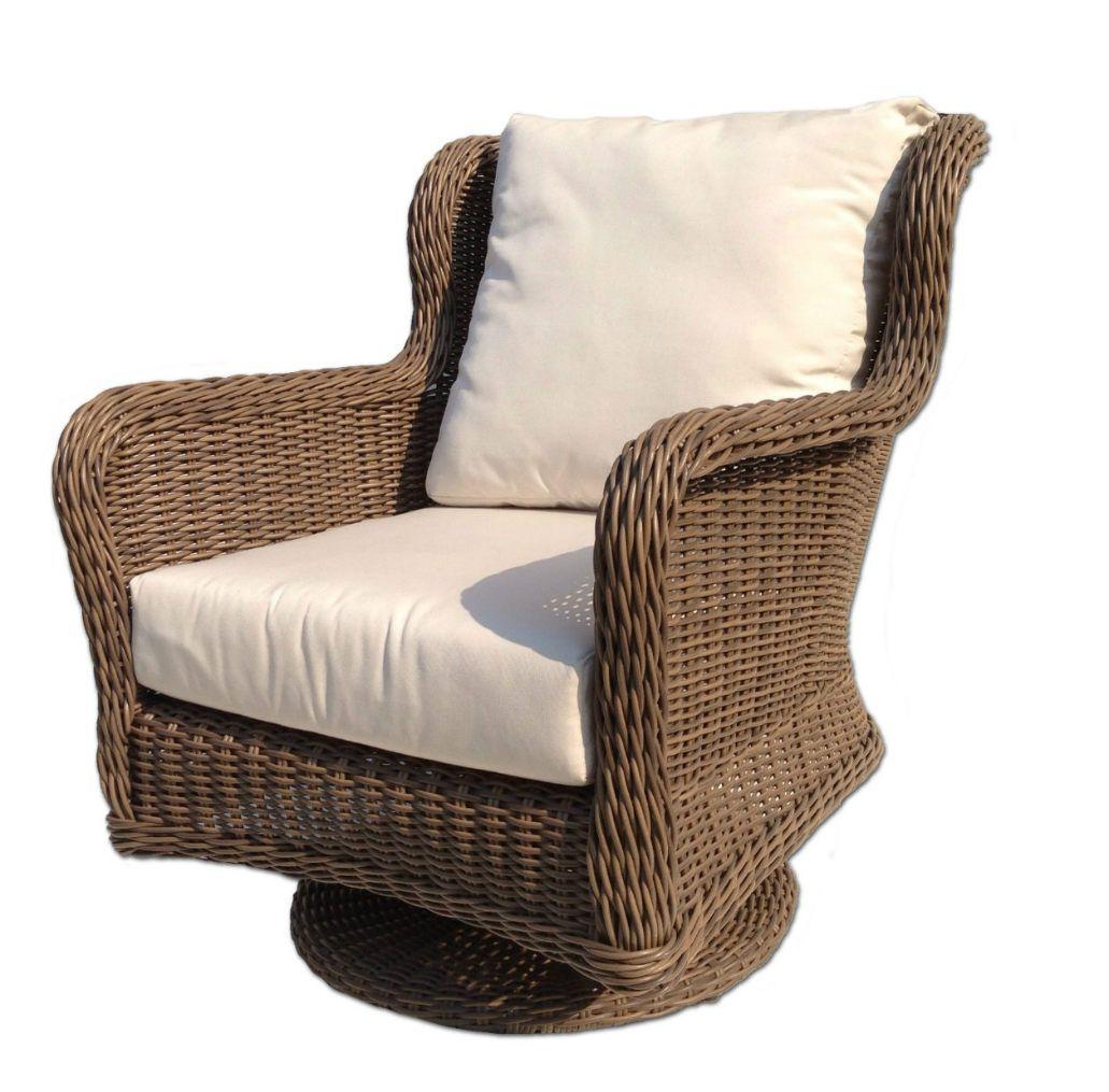 Bayshore Outdoor Wicker Swivel Chair wicker patio