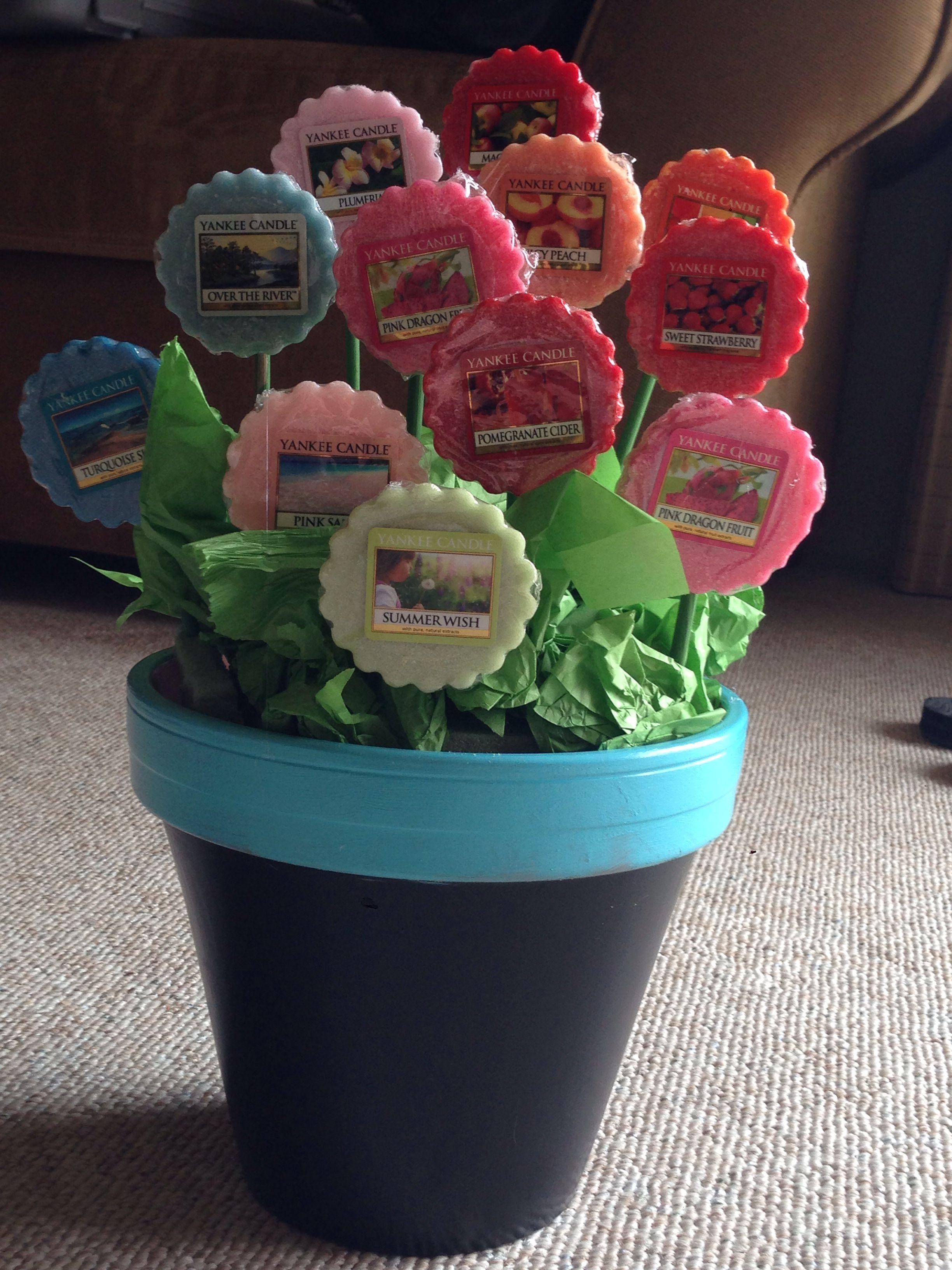 "Yankee candle tart ""flower"" bouquet. A perfect alternate"