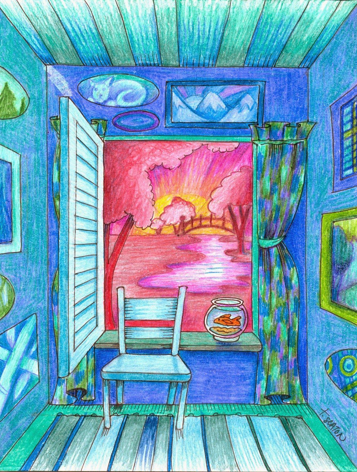 Easy 1 Pt Perspective Interior Exterior Ala Matisse