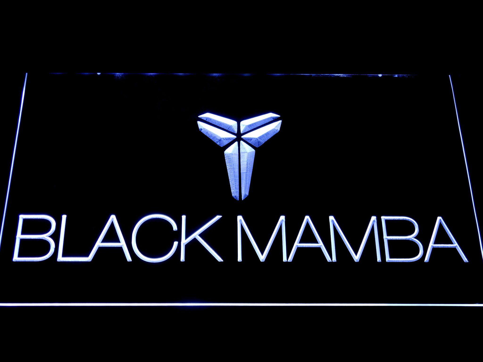 Los Angeles Lakers Kobe Bryant Black Mamba Logo LED Neon