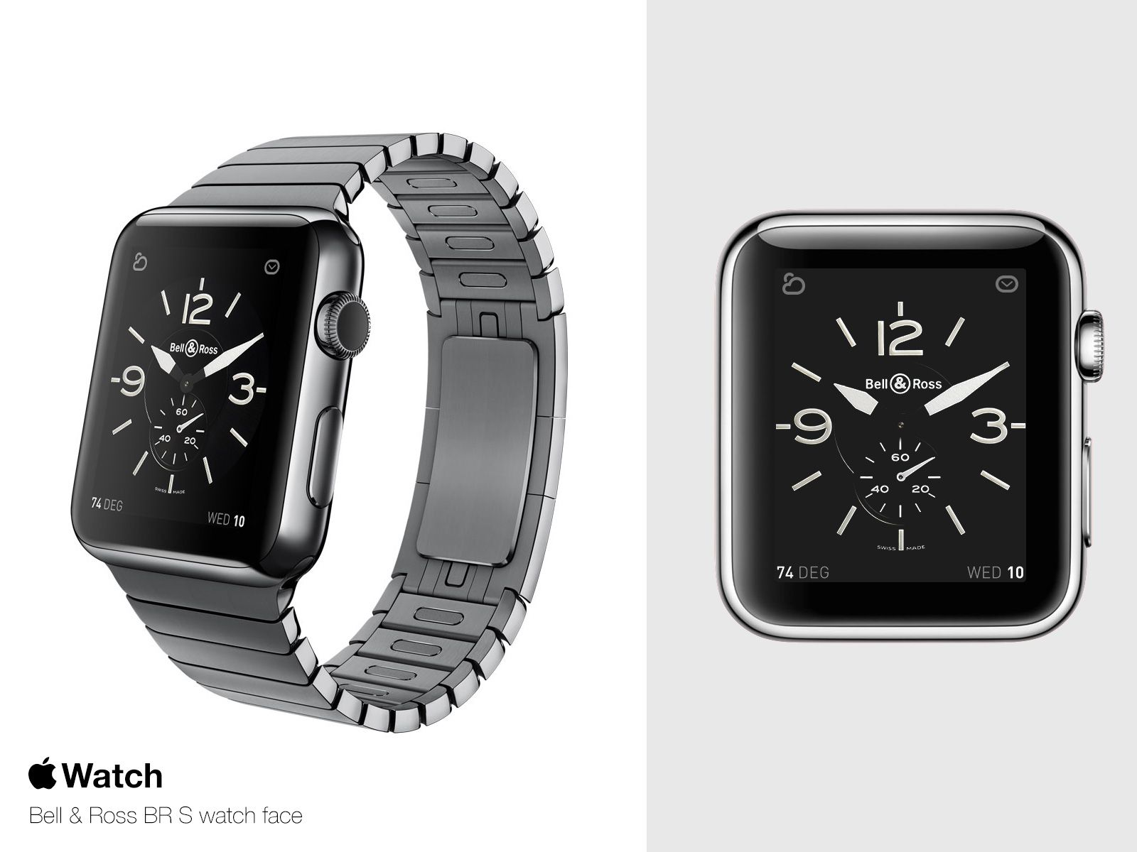 Apple Watch with Bell & Ross BR S watch face concept
