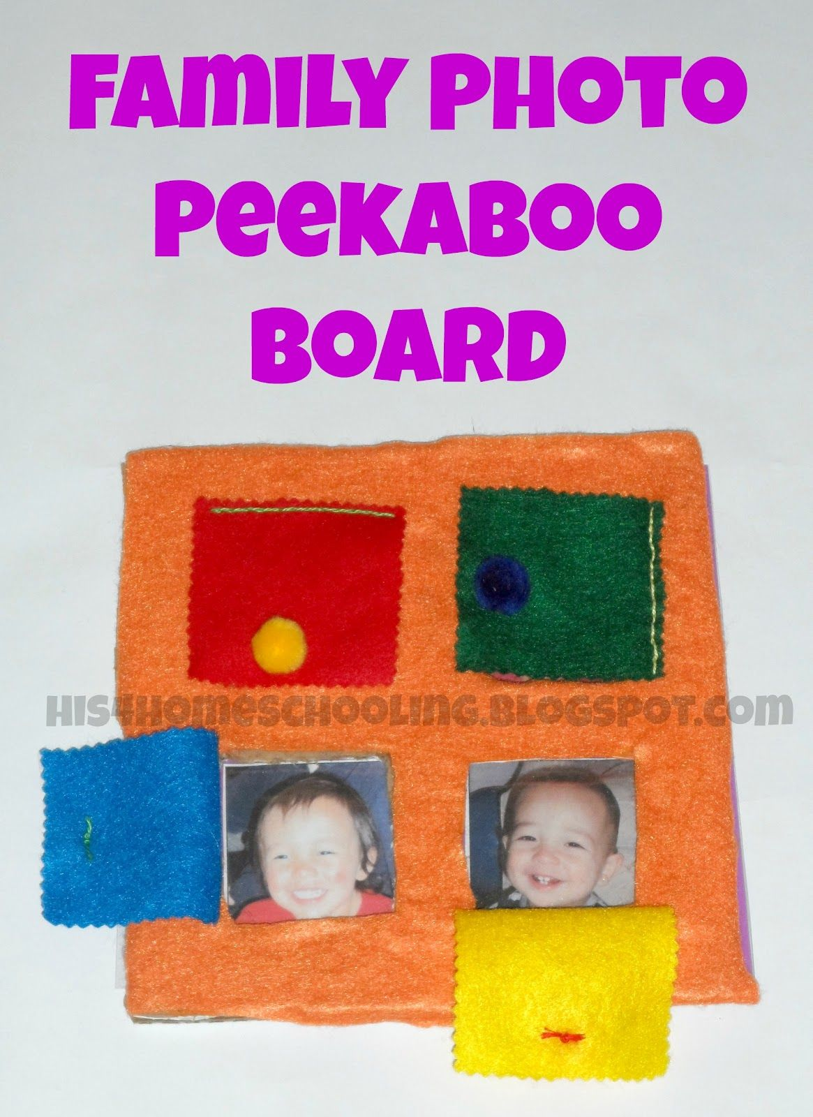 H Is For Homeschooling Family Photo Peekaboo Board
