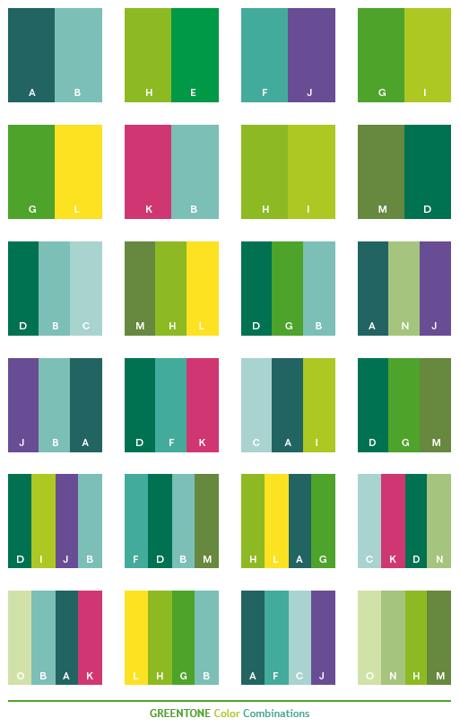 Green Color Schemes On Pinterest