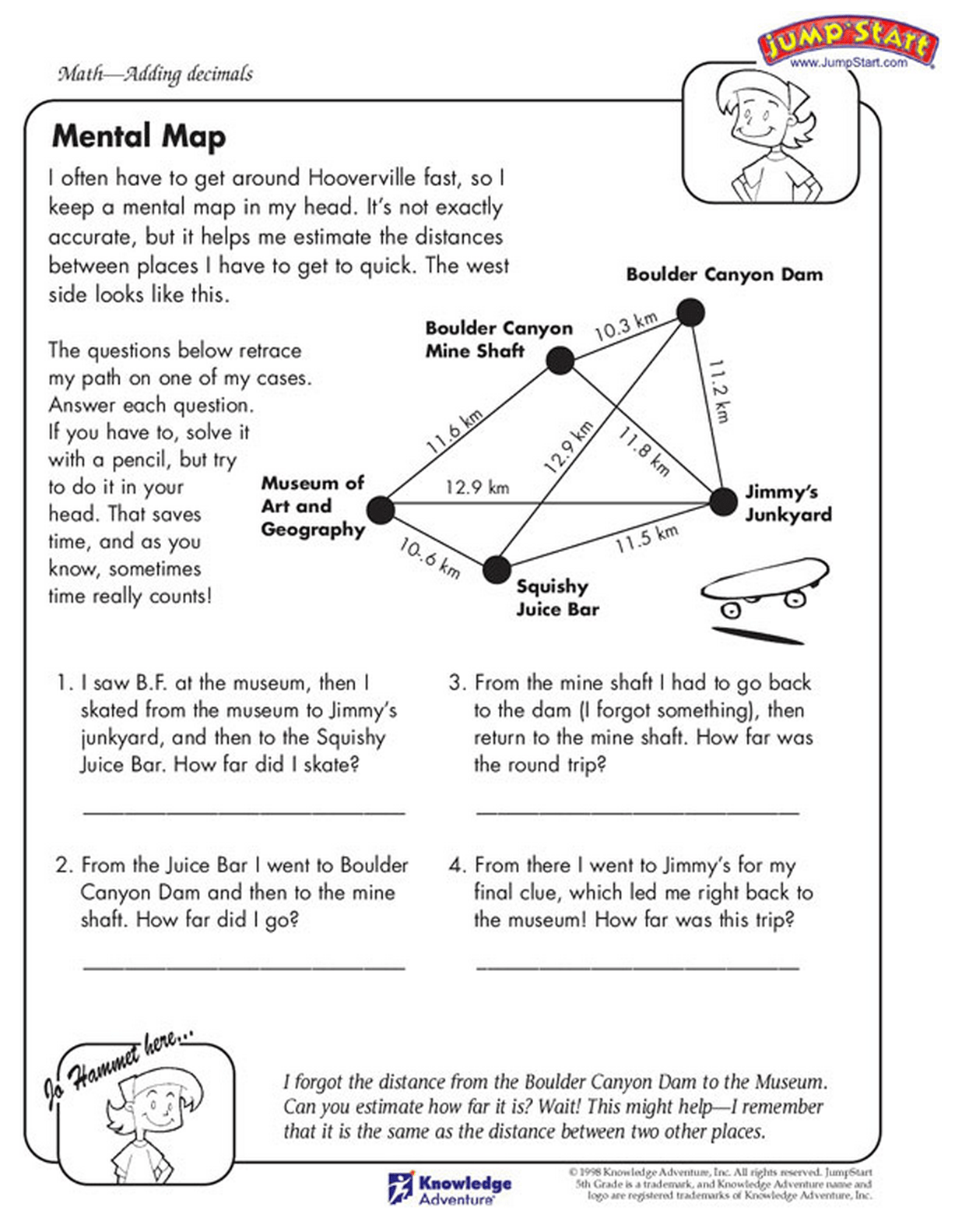The Decimal Math Practice Sheet Read The Story To Solve