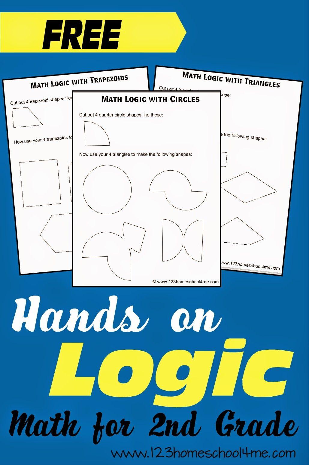 Shape Logic Problems For 2nd Grade Math Handsonmath Mathgames Homeschool