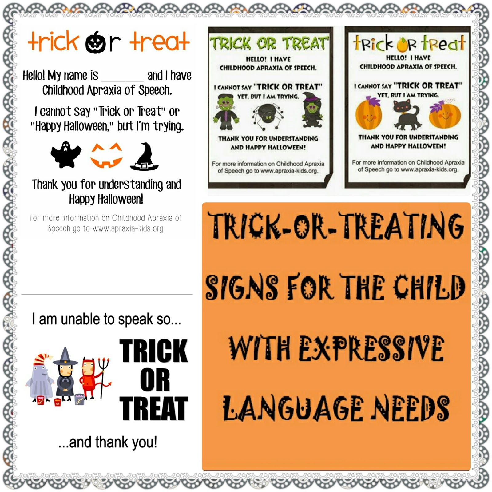 Let S Talk Speech Amp Language Trick Or Treating With Children Who Have Expressive Language Needs