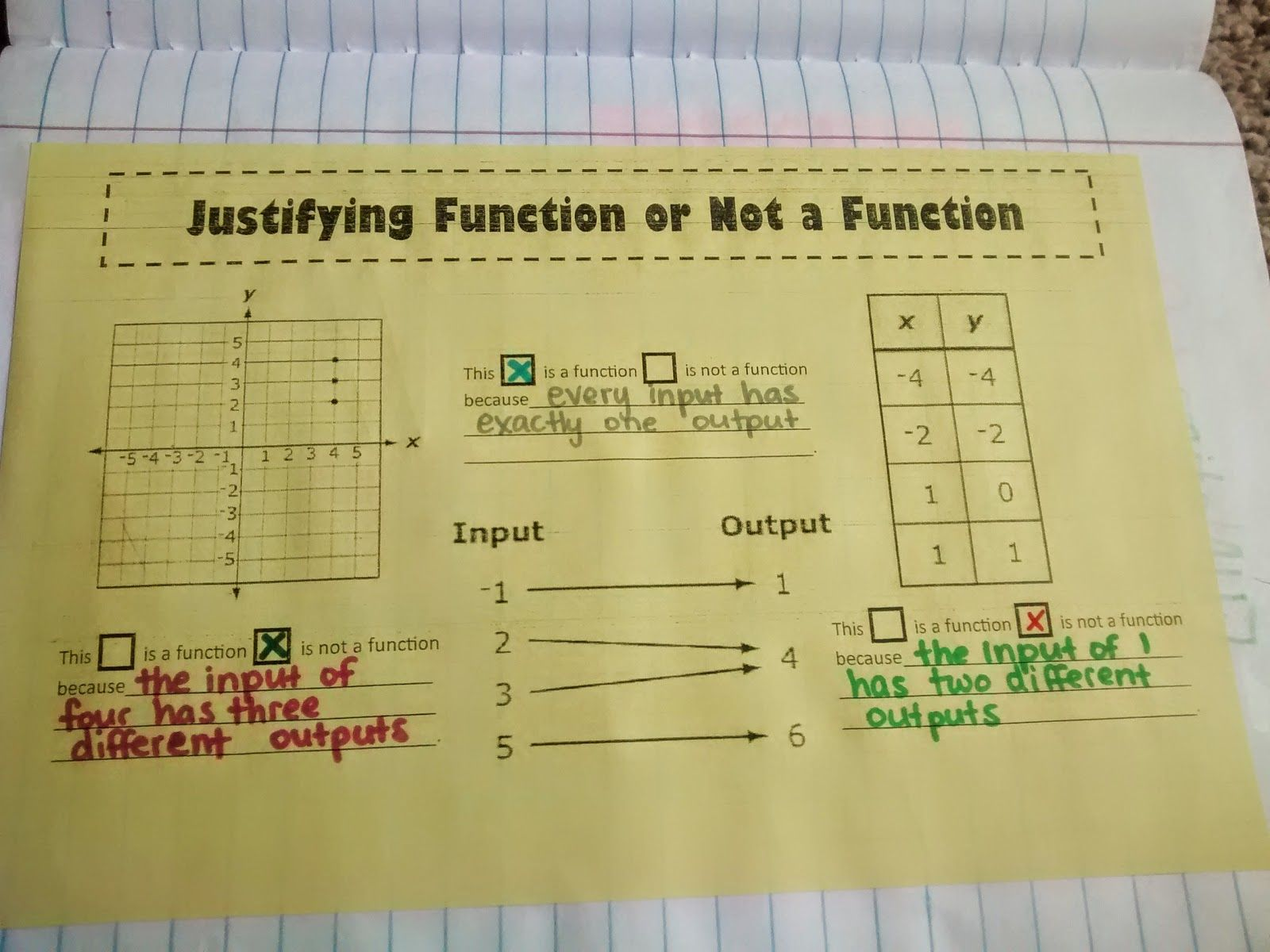 Justifying Function Or Not A Function