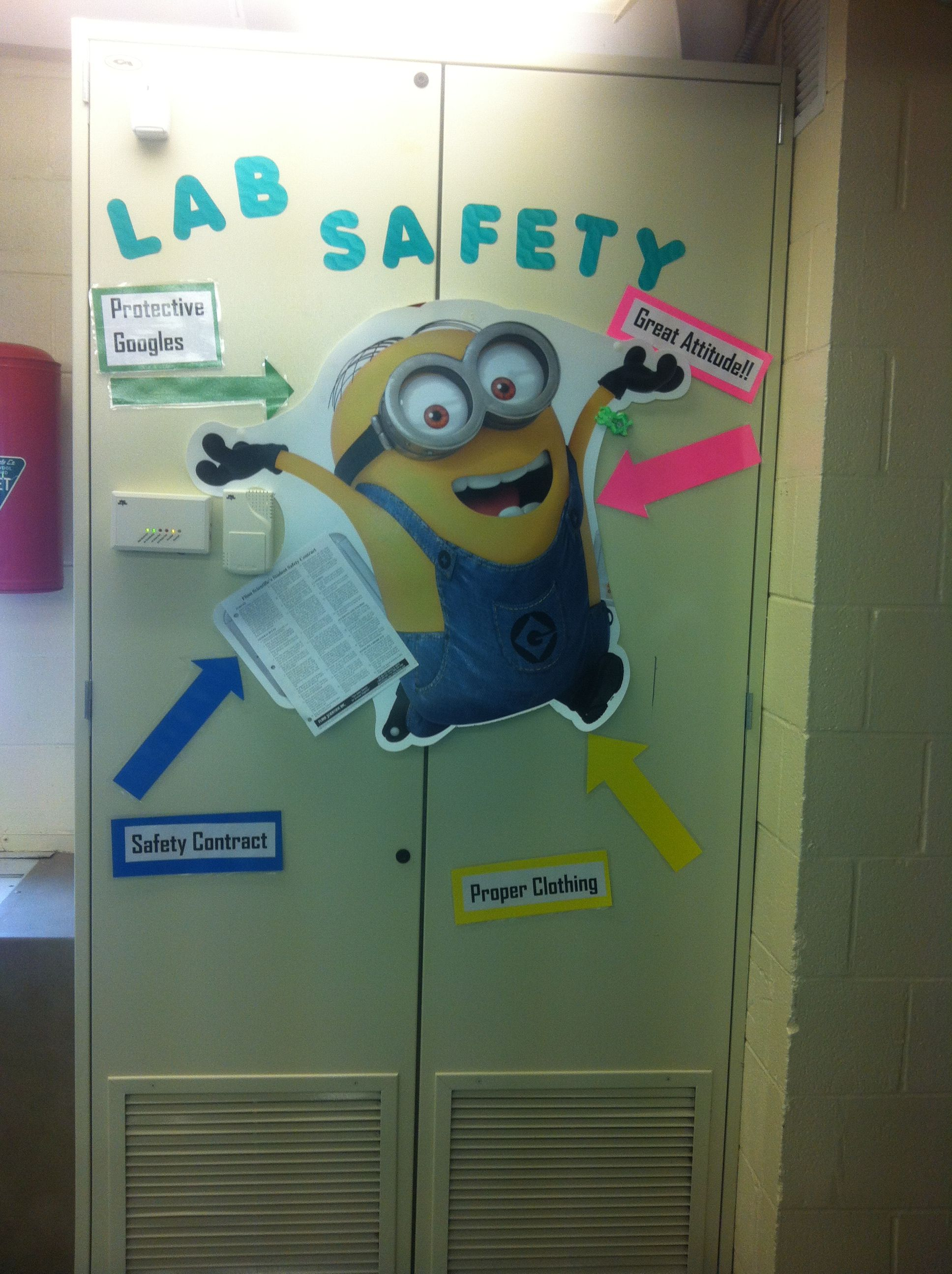 Middle School Science Lab Safety Fun Really Any Excuse To Put A Minion In My Classroom