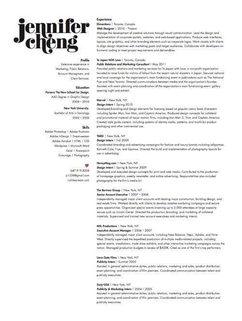 Graphic Design Resume Example. 1000 Ideas About Graphic Designer
