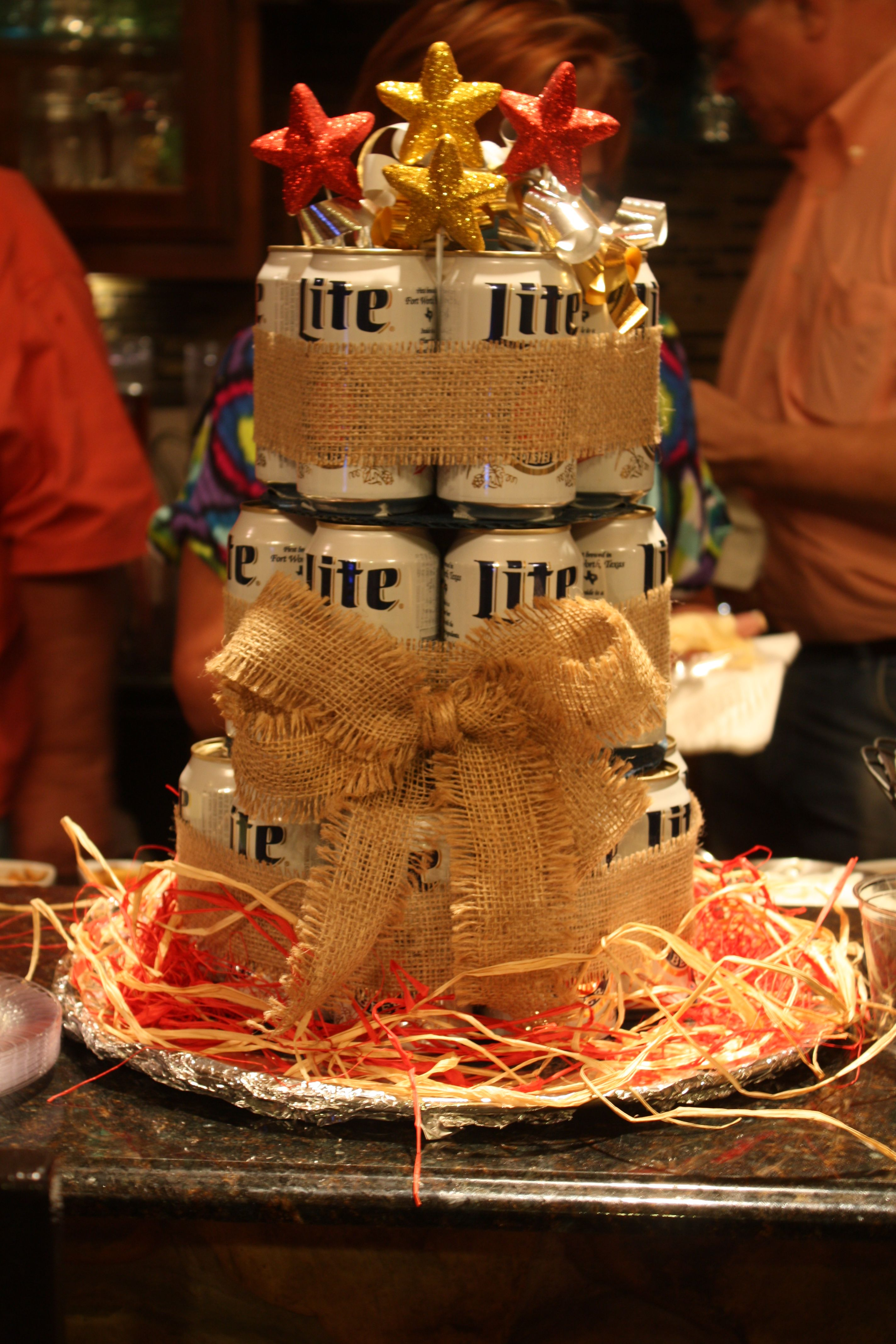 Perfect birthday centerpiece for that man who loves beer