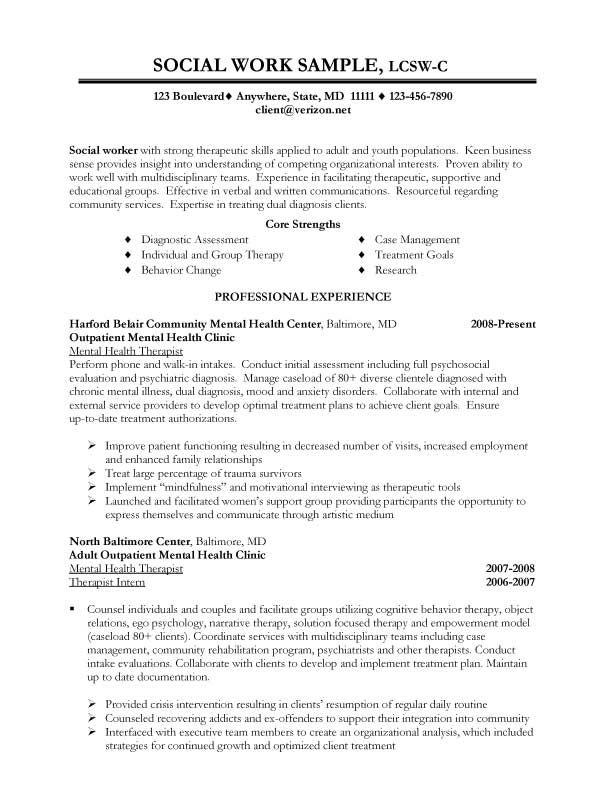 Social Work Resume Examples Resume Sample – Sample Psychosocial Assessment