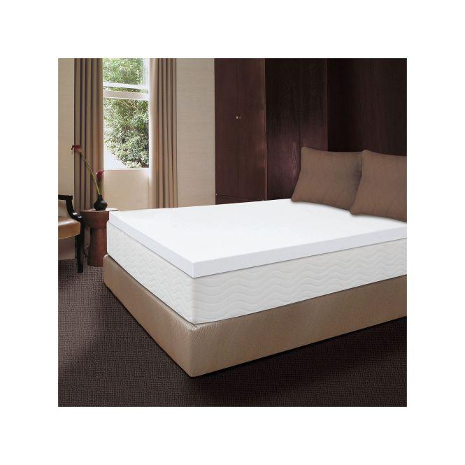 Dream Therapy 2 Inch Memory Foam Mattress Topper White
