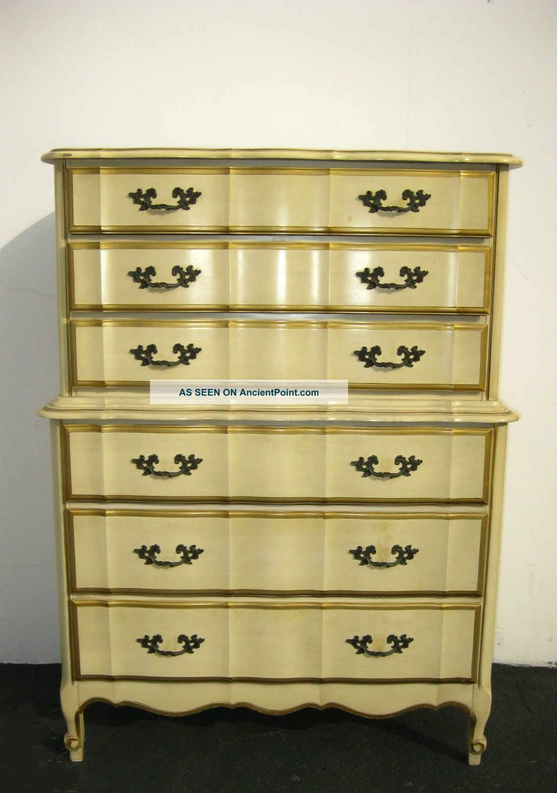 Vintage Kent Coffey French Provincial Dixie Style Tallboy