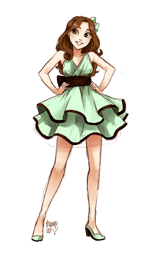 mint and chocolate ice cream fullbody by meago.deviantart