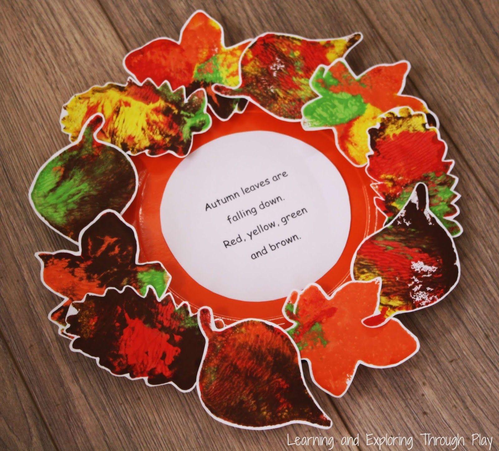 Leaf Wreath Poem Autumn Craft