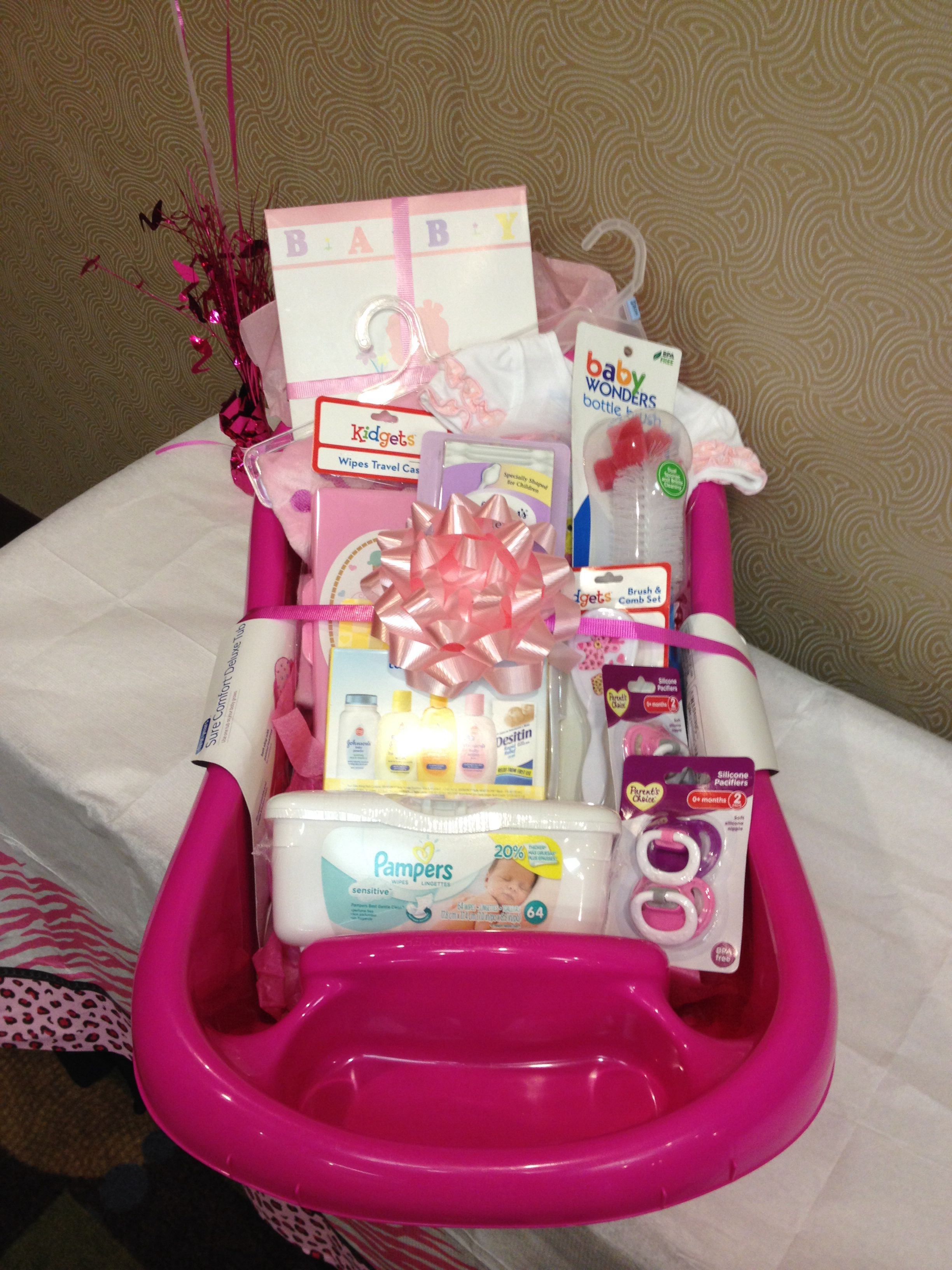 Baby Shower Gift Basket Idea Baby Girl Gift Idea
