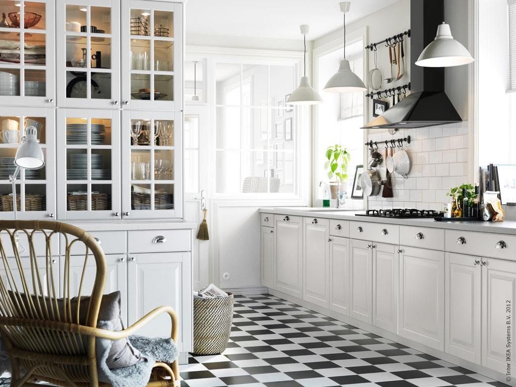 Black & white ikea kitchen Kitchen ideas Pinterest