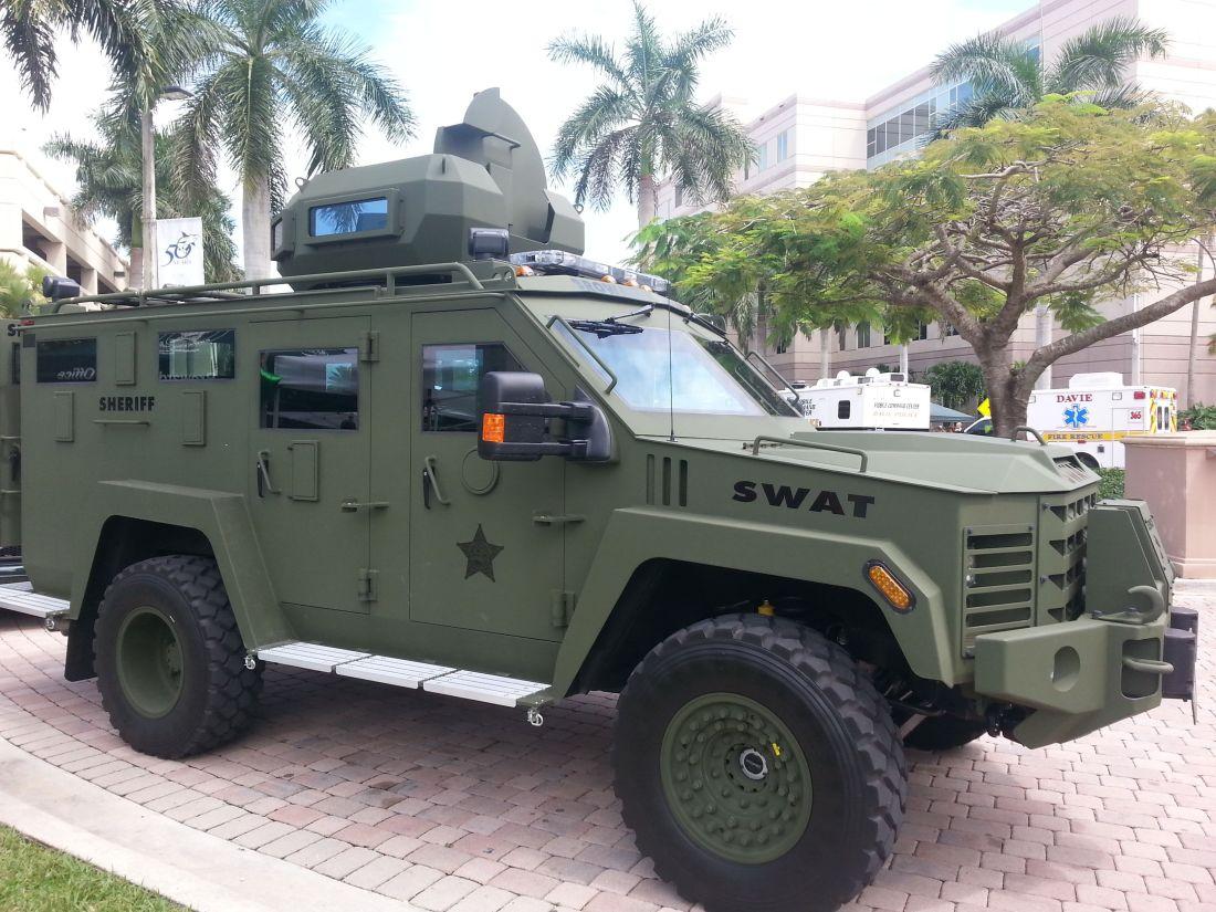 Broward sheriffs office swat vehicle via amplification