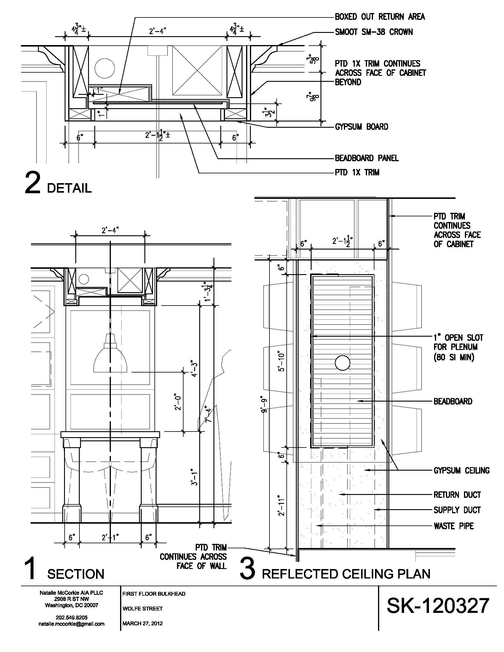 Bulkhead Detail Drawing