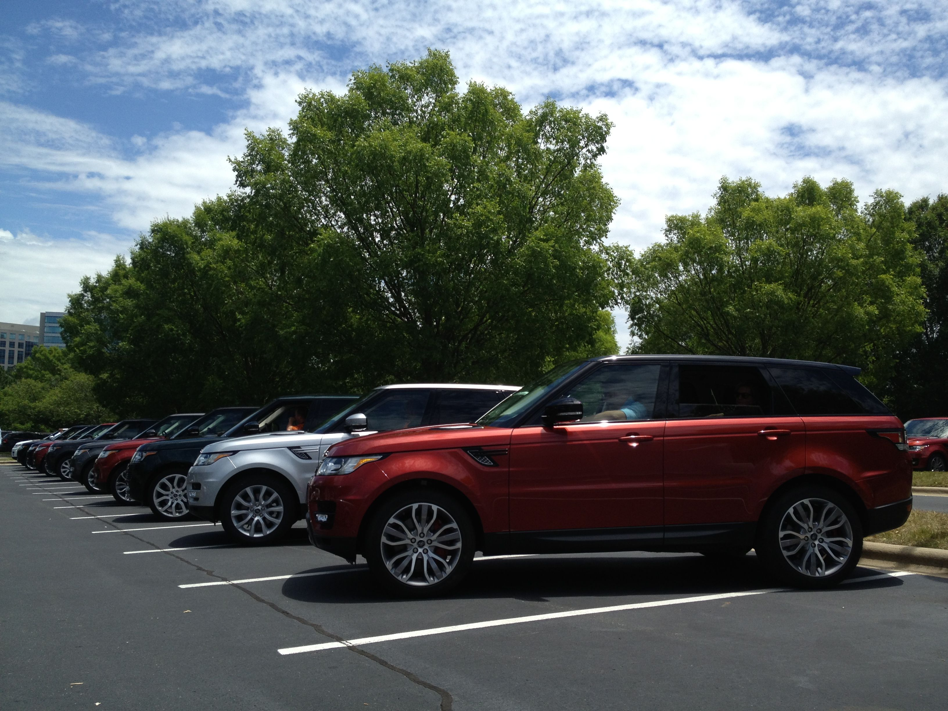 Land Rover Palm Beach at the 2014 Range Rover Sport training in NC