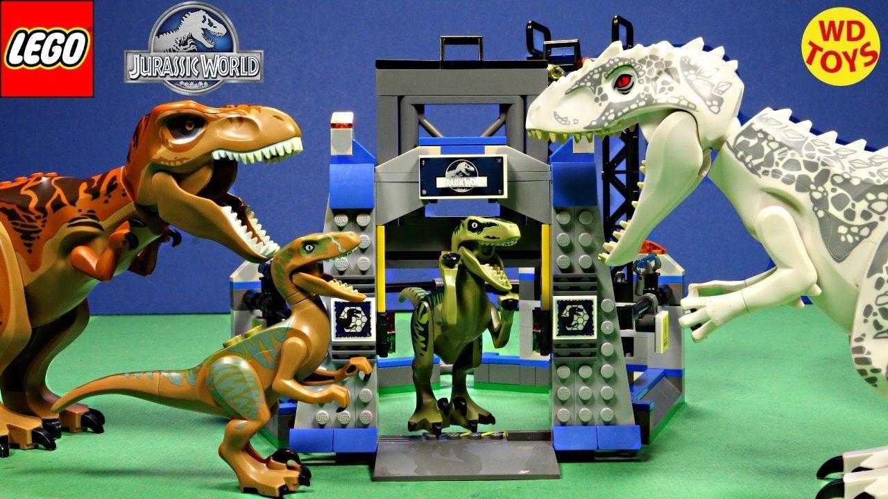 New Lego Jurassic World Raptor Escape Set Vs Indominus Rex