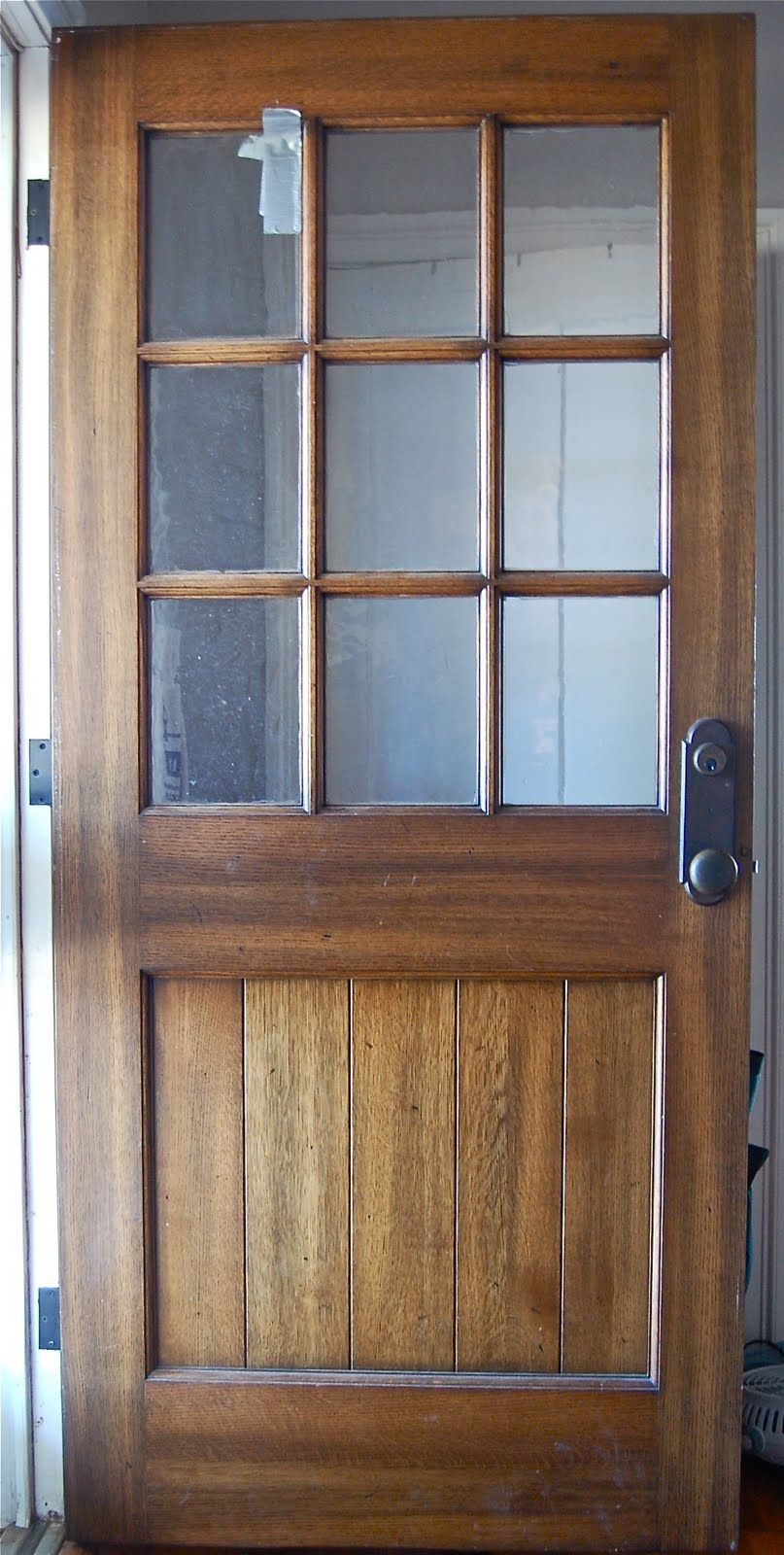 solid oak farmhouse door Perfect with a screen door! For