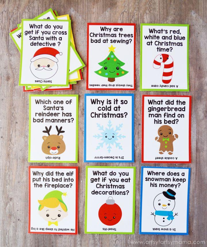 Free Printable Christmas Lunch Box Jokes Lunch box jokes