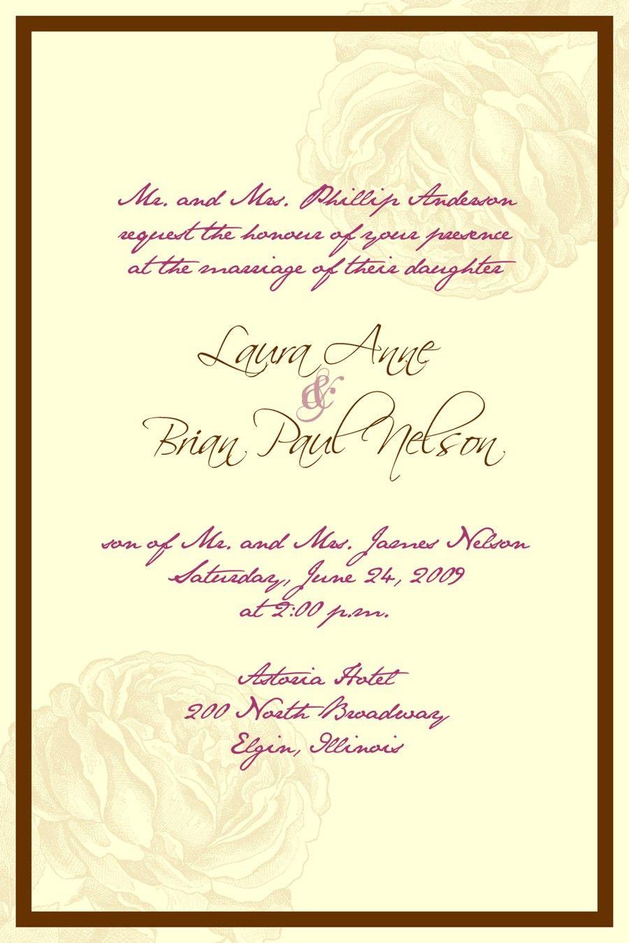 wedding invitation wording Google Search 4/12/14