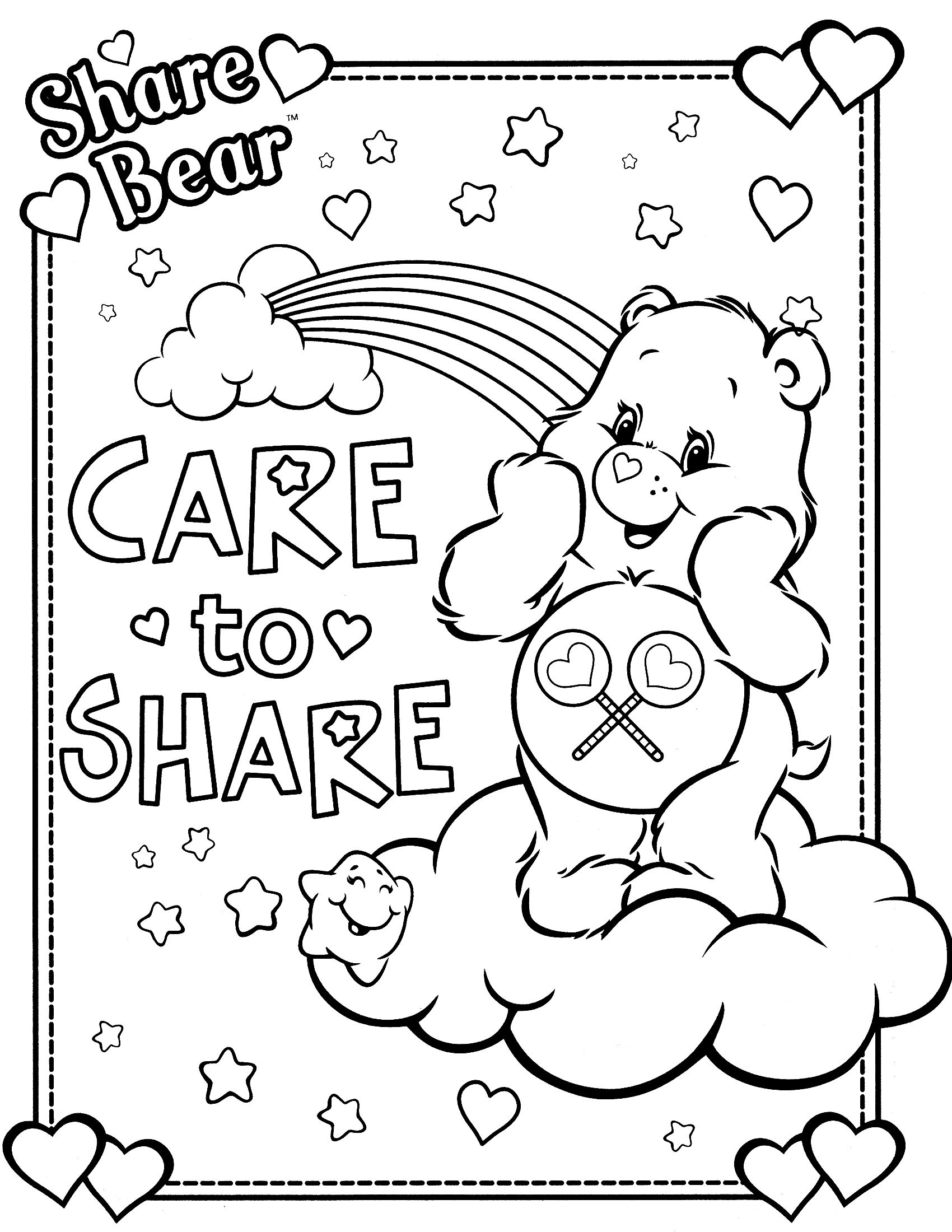 All Care Bears Coloring Pages Care Bears Coloring Pages Printable