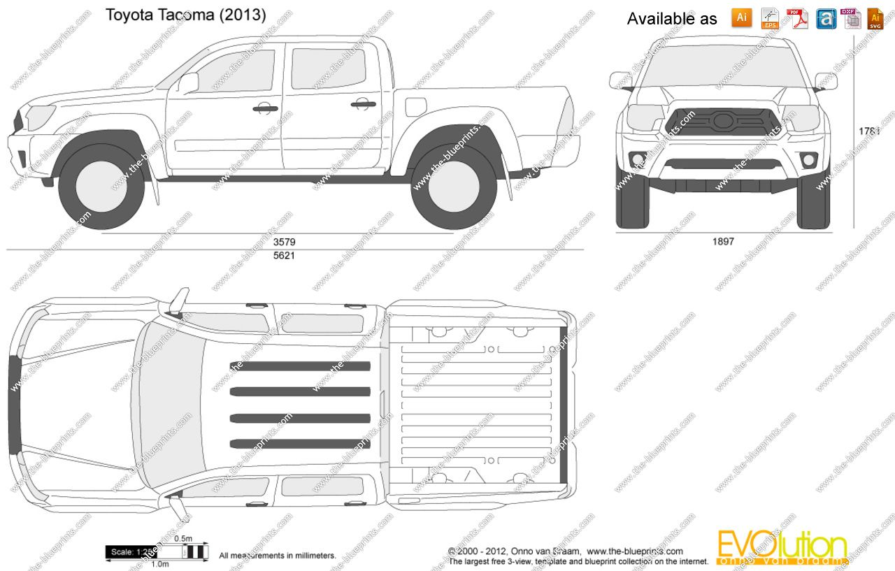 Cad Drawing Toyota Tacoma