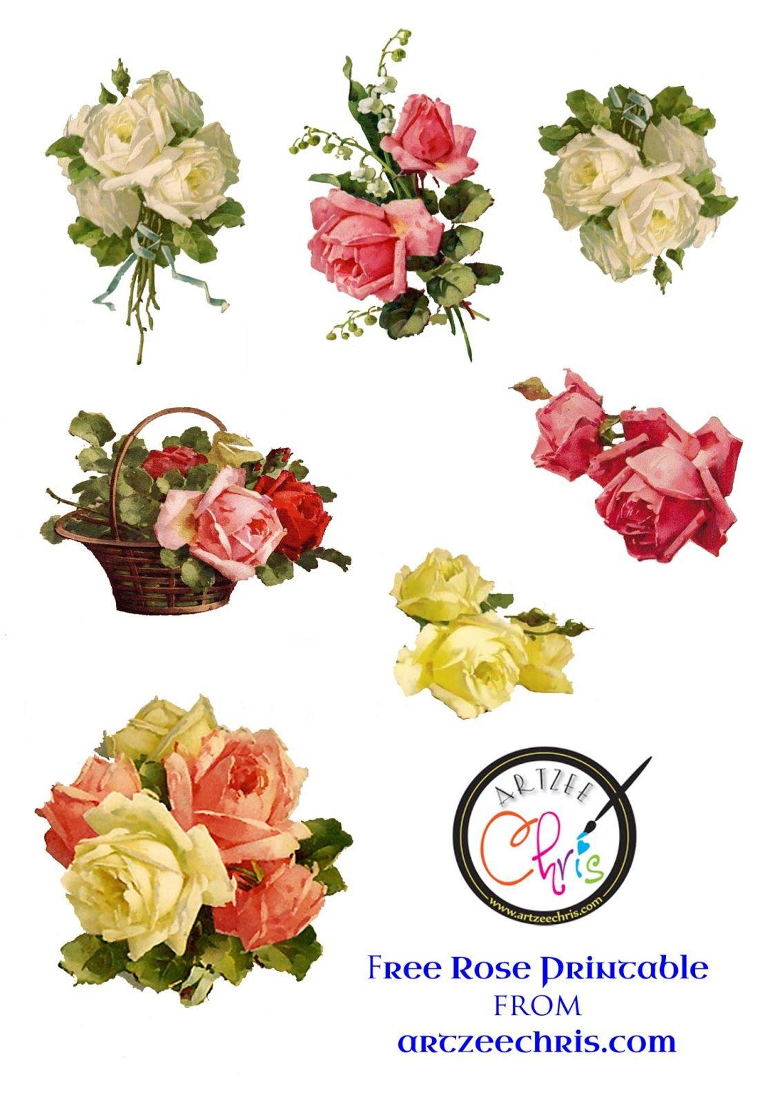 The Artzee Blog Free Vintage Victorian Roses Printable