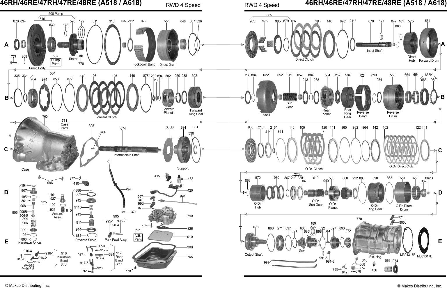 V8 Engine Exploded View