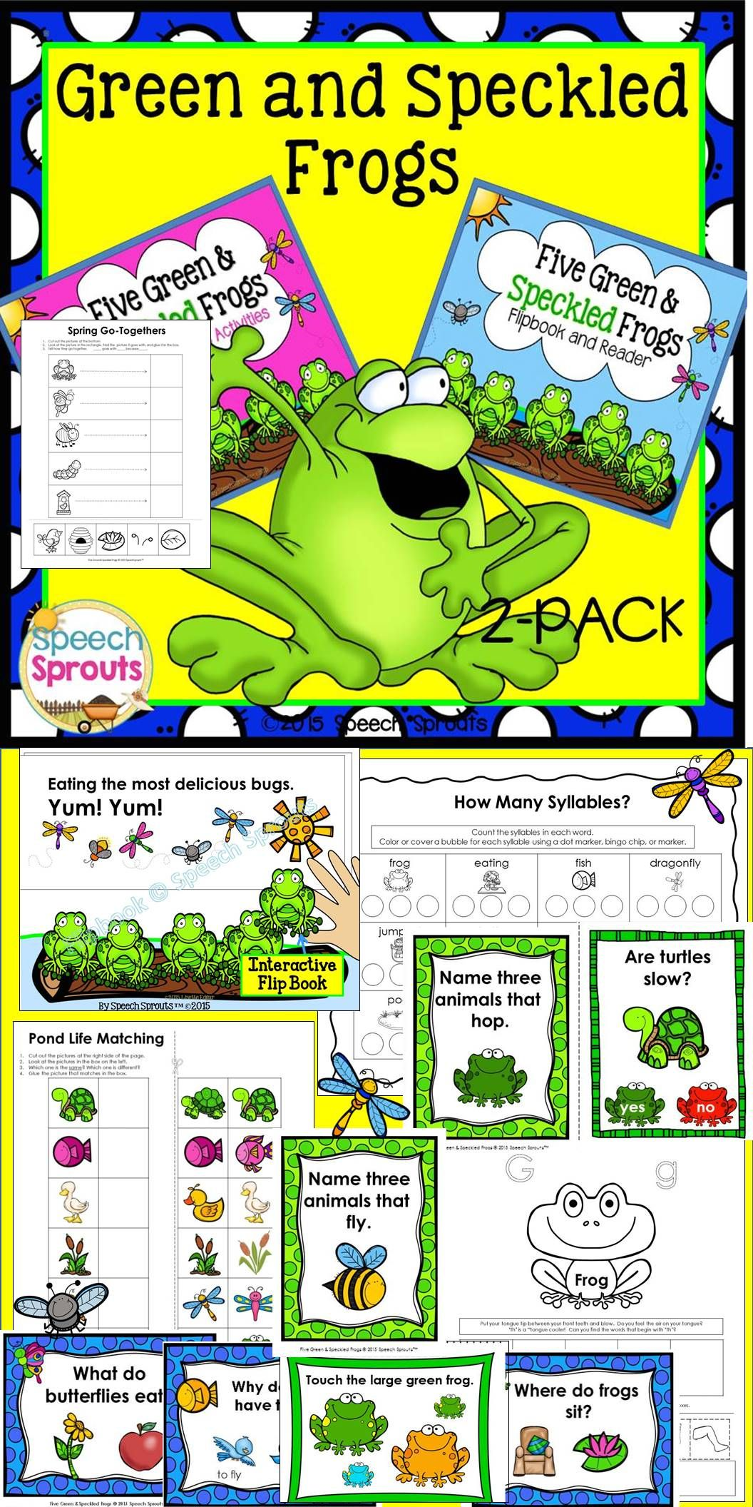 Five Green And Speckled Frogs Speech And Language Therapy 2 Pack