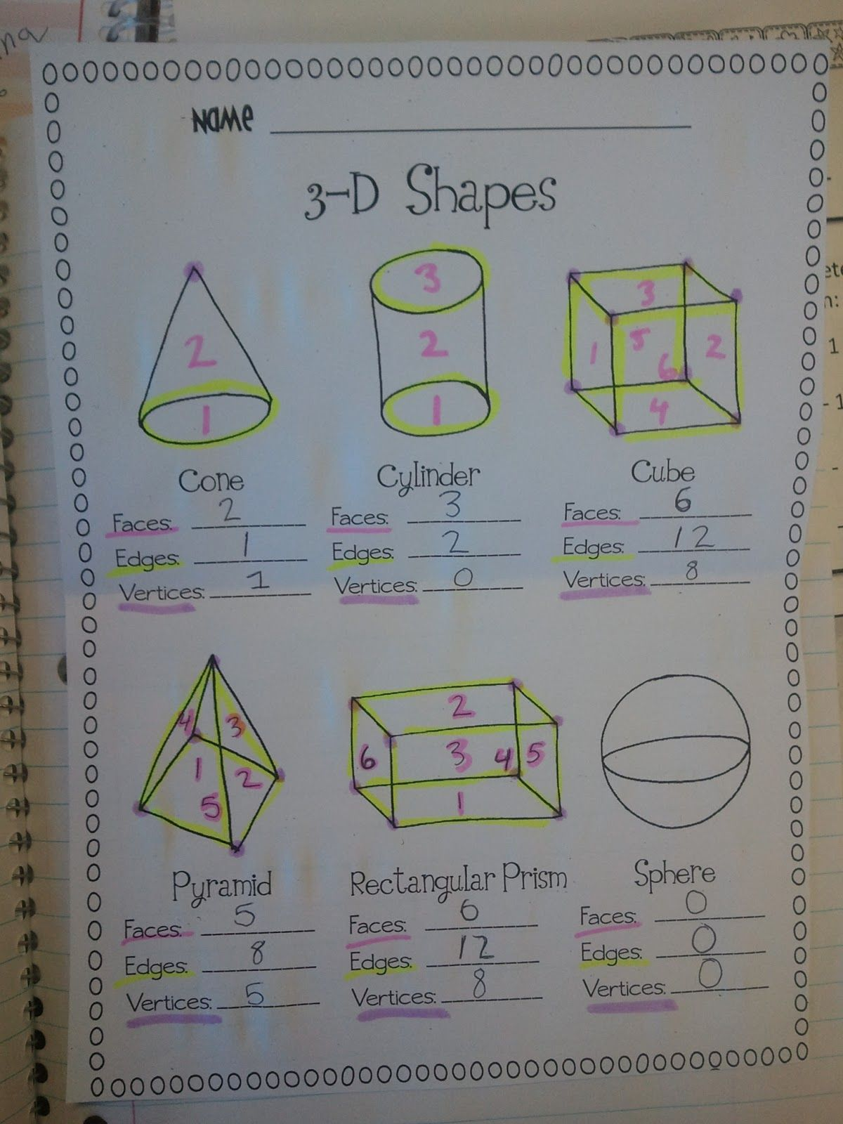 Miss Third Grade 3d Shapes Vertices Faces Amp Edges Simon Says Geometry Game