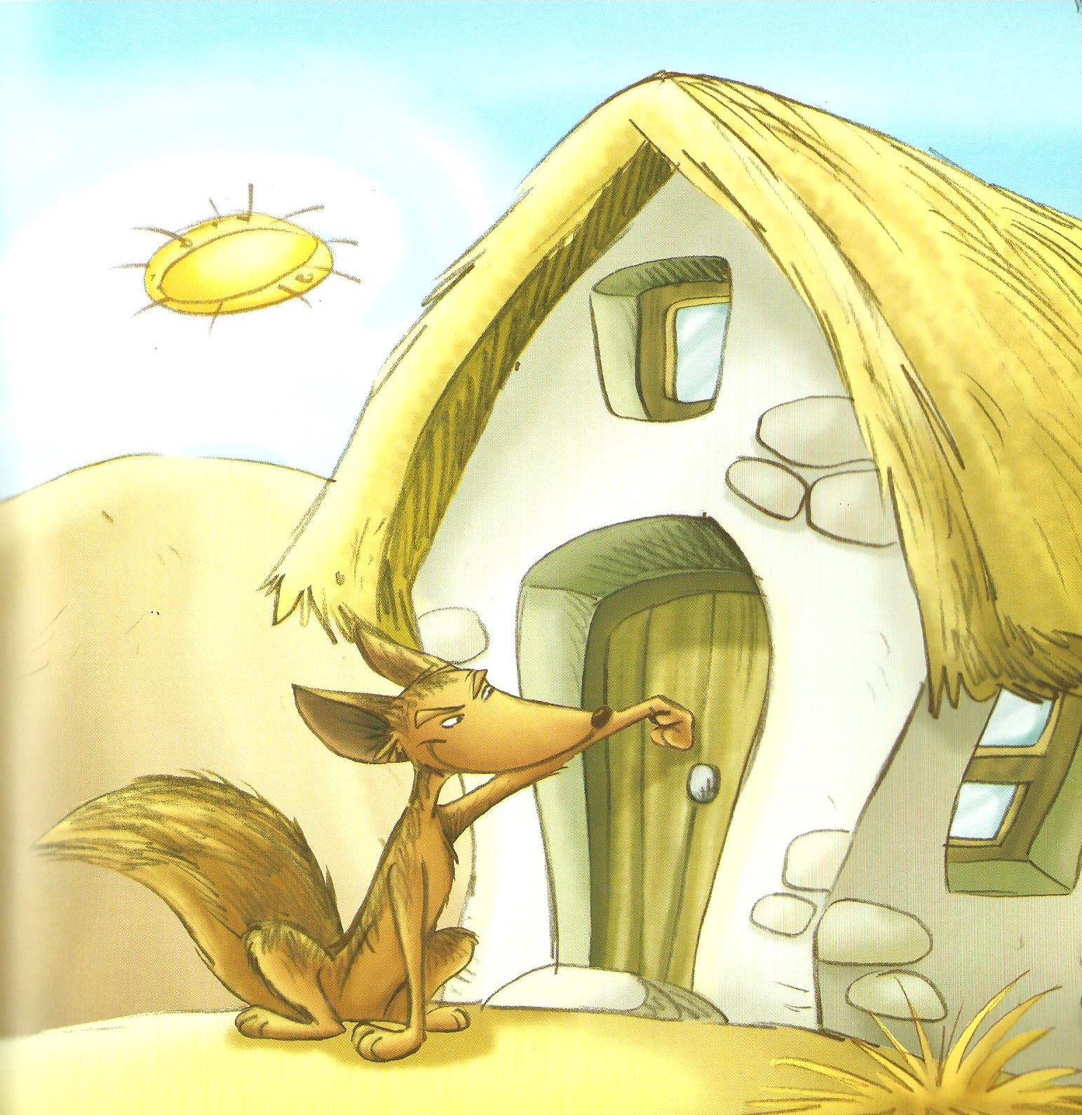 Mientras Tanto El Lobo Flaco Habia Llegado A La Casa De La
