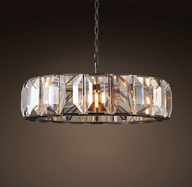 Rh S Harlow Crystal Chandelier By A German From The Our Fixture Evokes Boldness And Glamour Of Era Band Faceted Glass